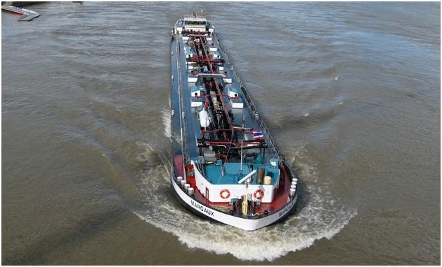 Strömungsverhältnisse am fahrenden Schiff